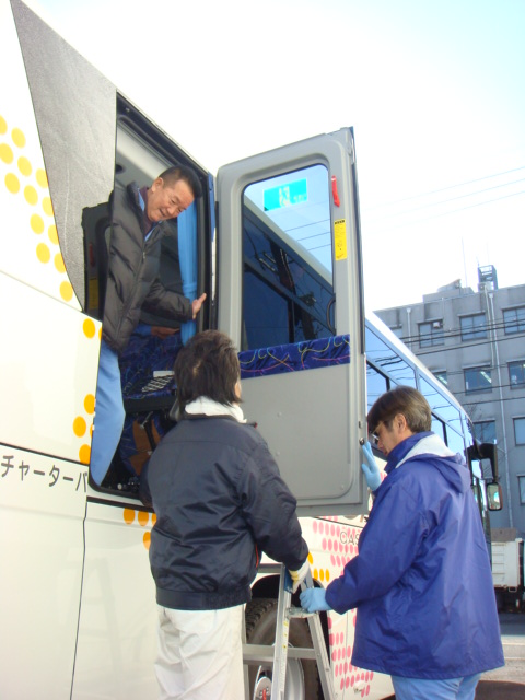 貸切バス運転無事故表彰式